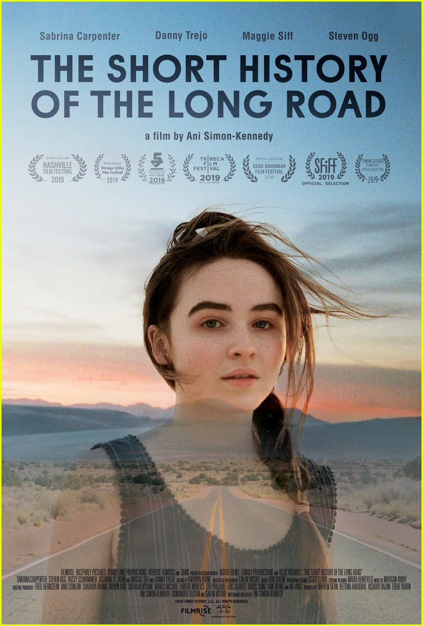 sabrina carpenter stars in the short history of the long road trailer 024459347