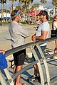 gerard butler rad cap bike ride beach 04