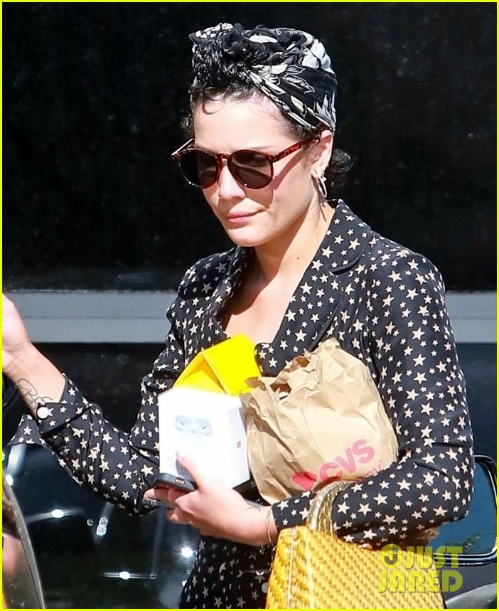 halsey looks cute in star print dress for trip to cvs 024465122