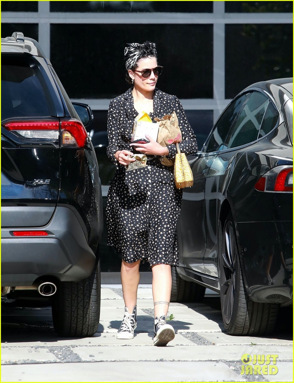 halsey looks cute in star print dress for trip to cvs 034465123