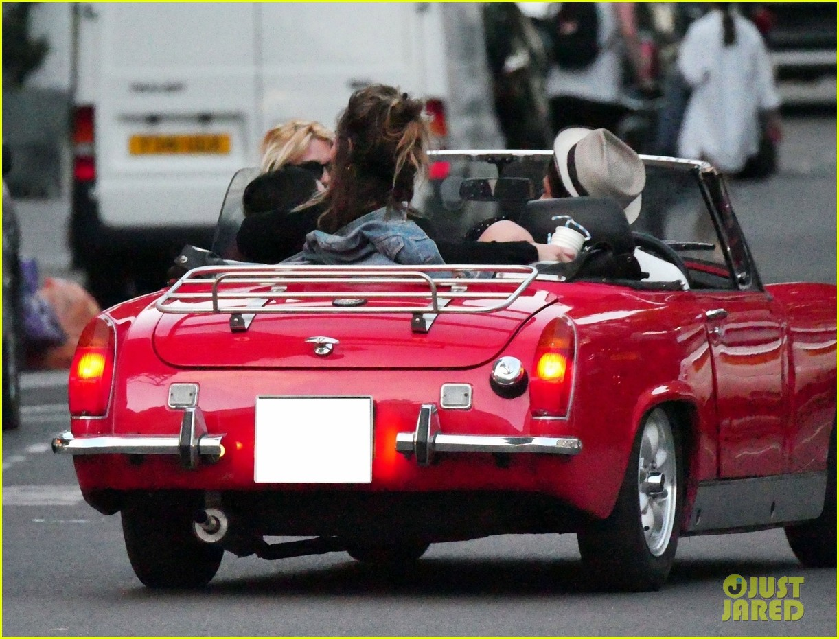 lily james piled into a two seat car with some celeb friends 014466272