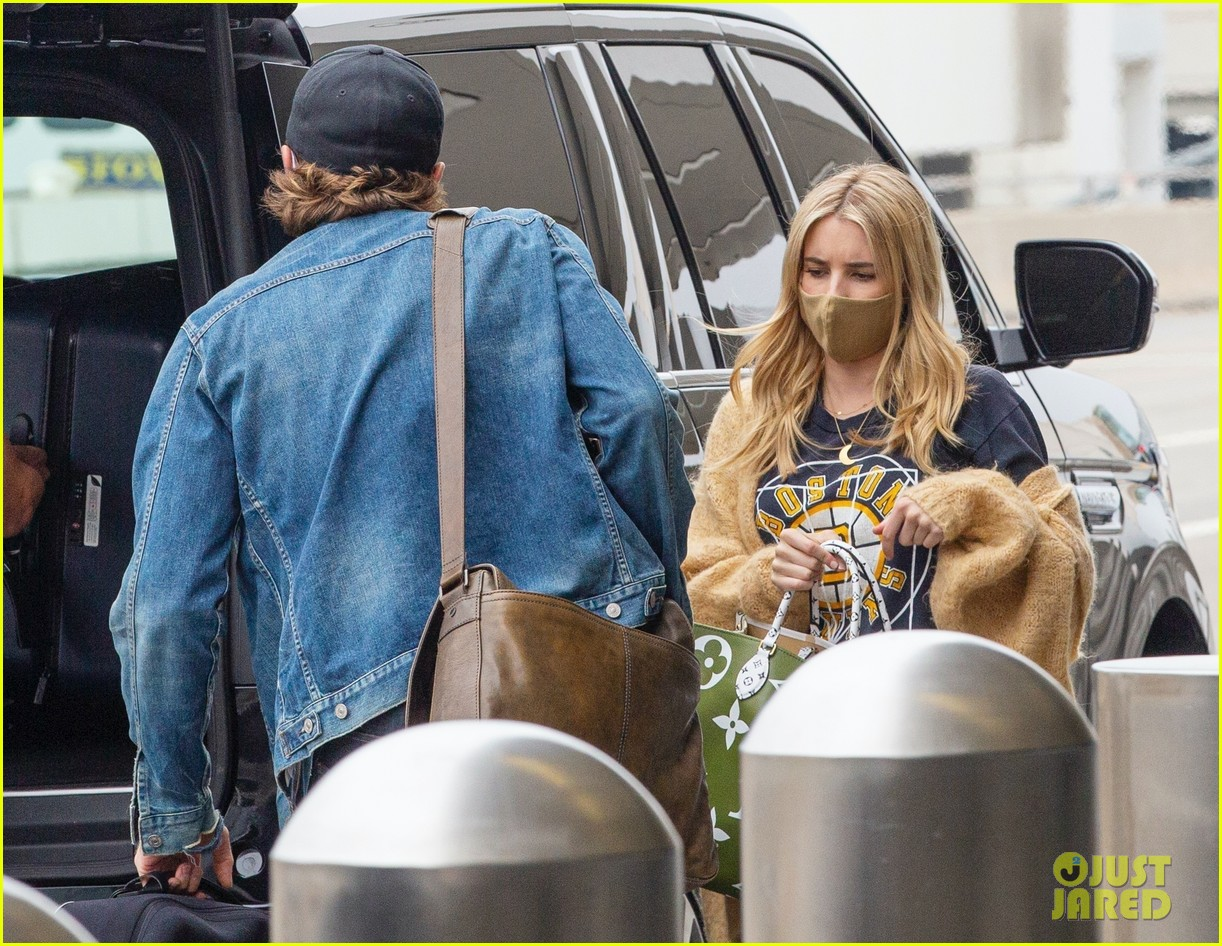 emma roberts garrett hedlund airport after pregnancy news 164465597