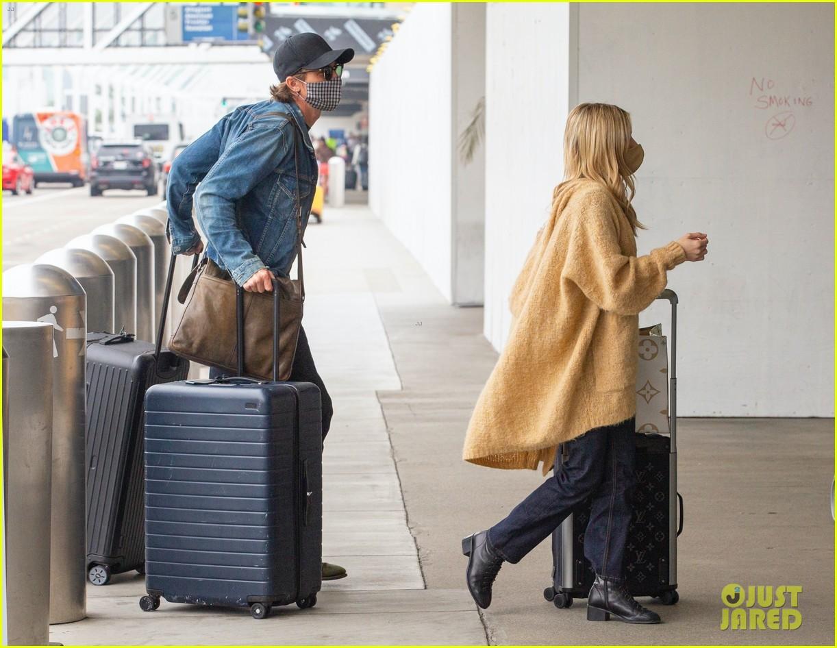 emma roberts garrett hedlund airport after pregnancy news 484465629