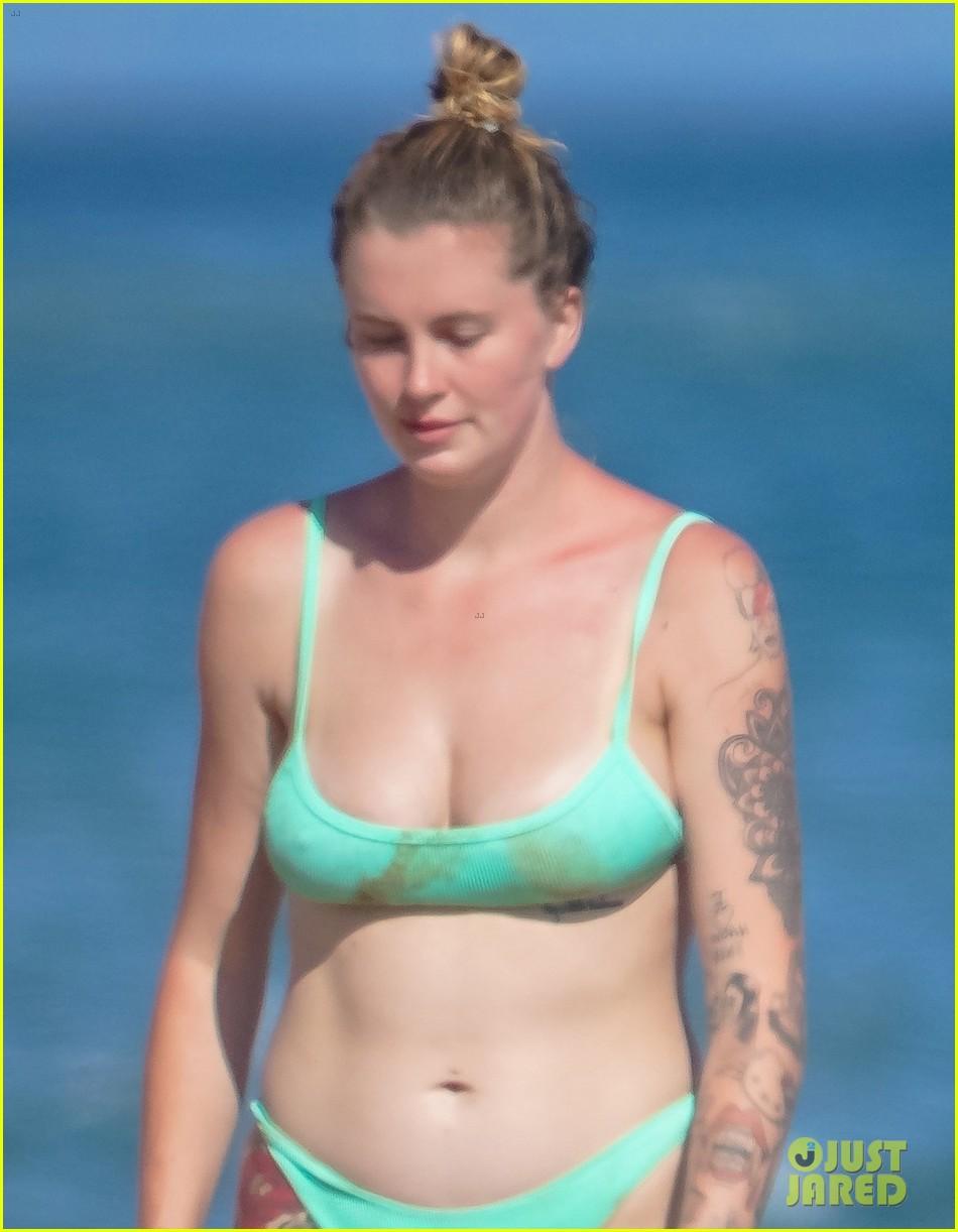 ireland baldwin mint green bikini day at the beach 044468874