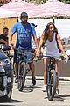 gerard butler morgan brown bike to lunch in malibu 05