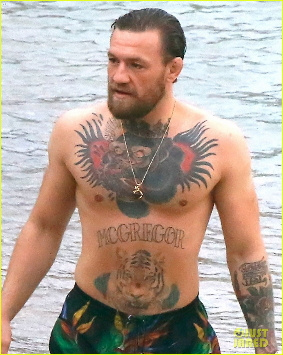 conor mcgregor shows off his tattoos on vacation 014470411