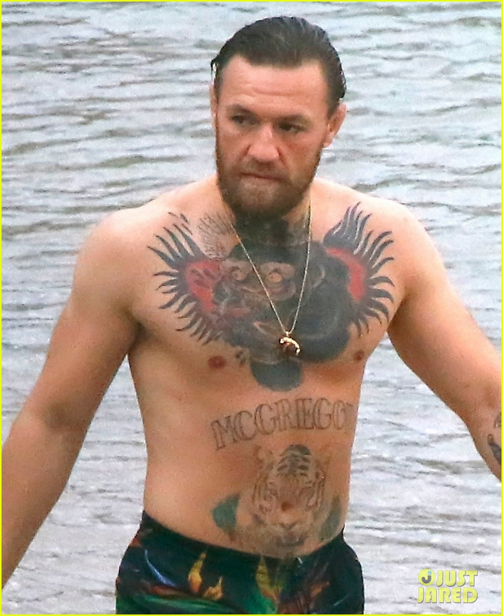 conor mcgregor shows off his tattoos on vacation 054470415