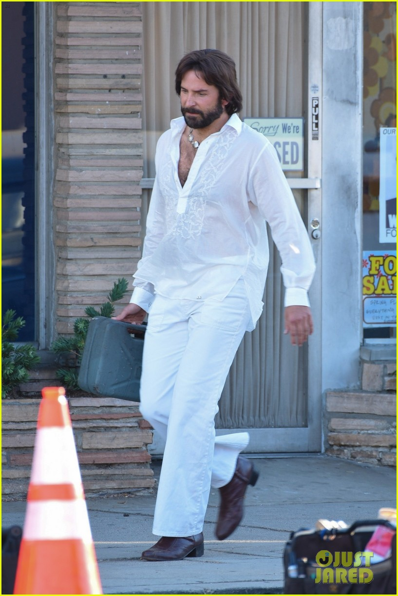 bradley cooper straight out of 70s set of new movie 134478923