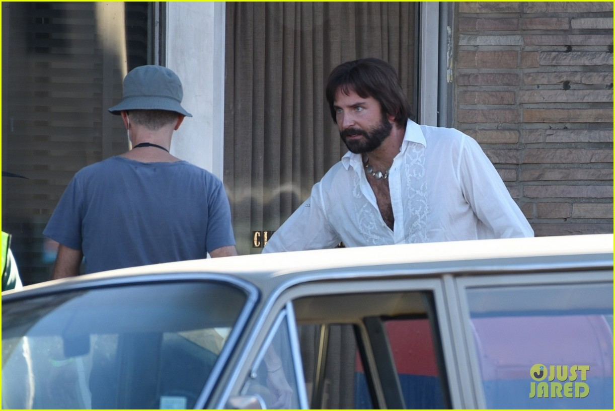 bradley cooper straight out of 70s set of new movie 174478927
