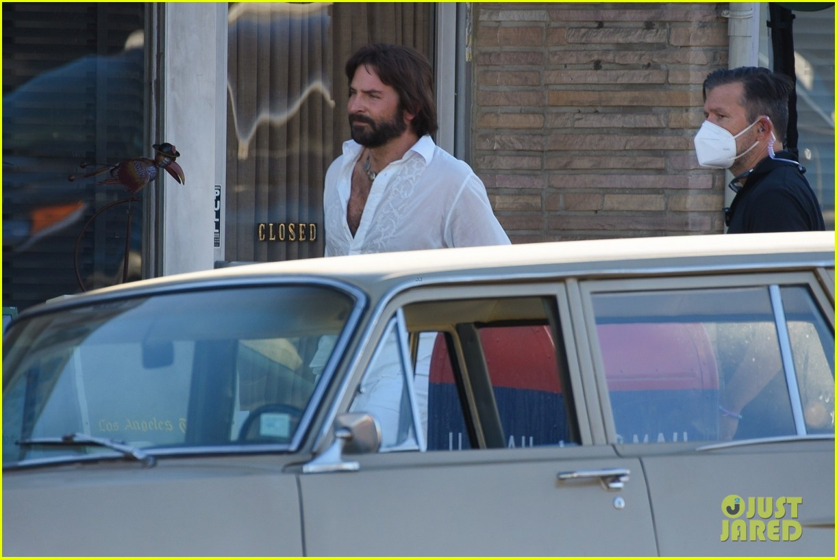 bradley cooper straight out of 70s set of new movie 244478934