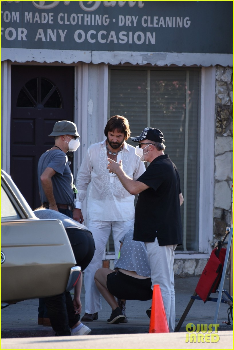 bradley cooper straight out of 70s set of new movie 274478937