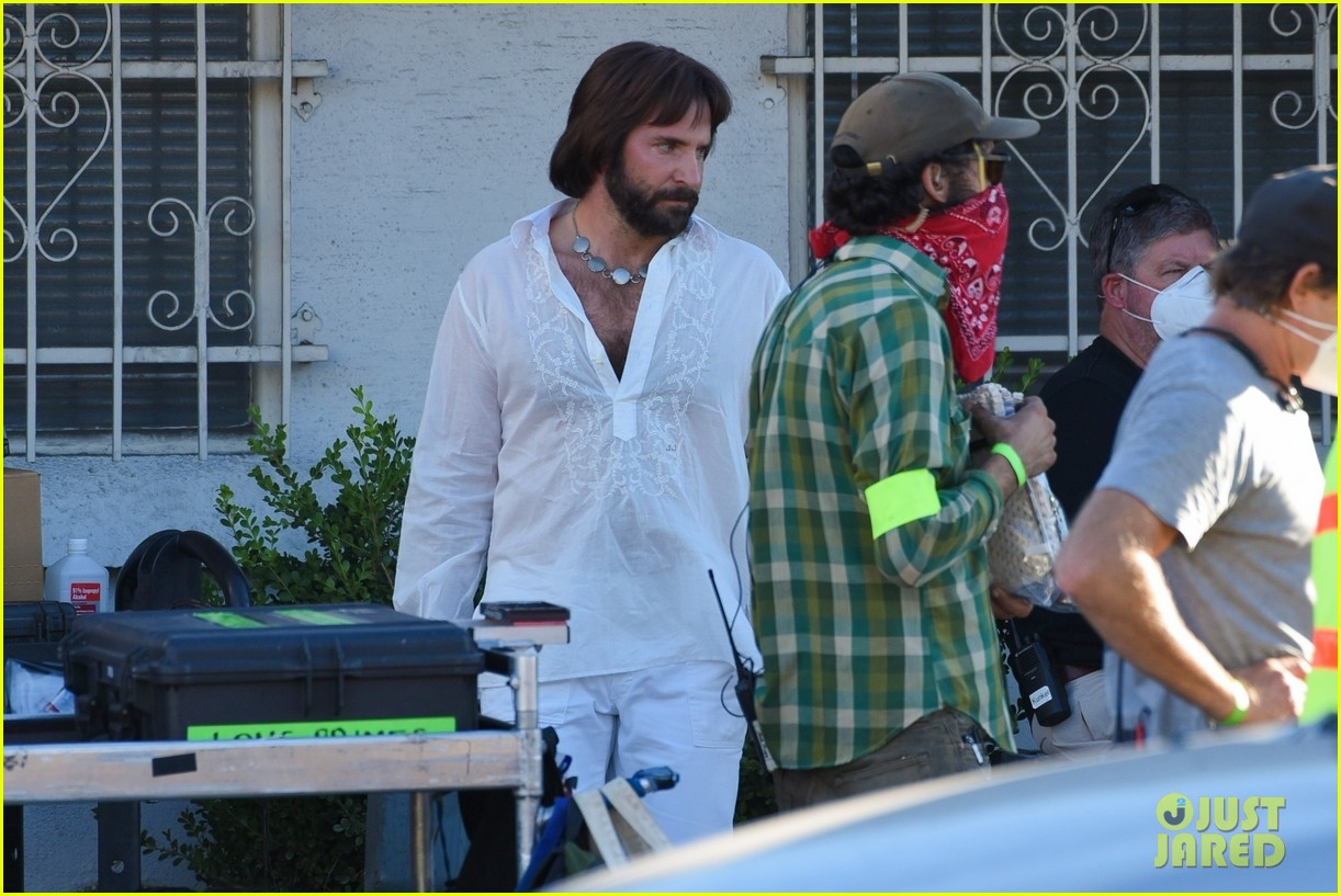 bradley cooper straight out of 70s set of new movie 404478950