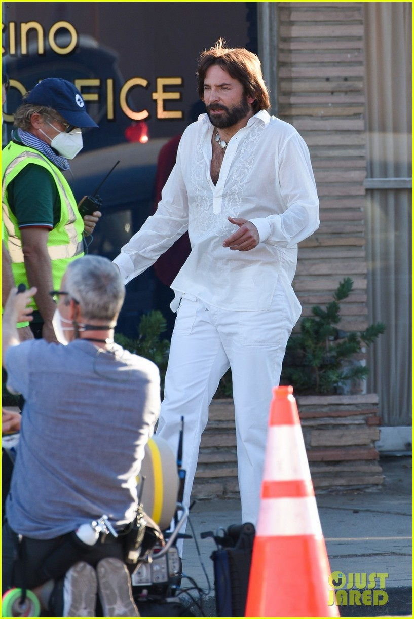 bradley cooper straight out of 70s set of new movie 484478958