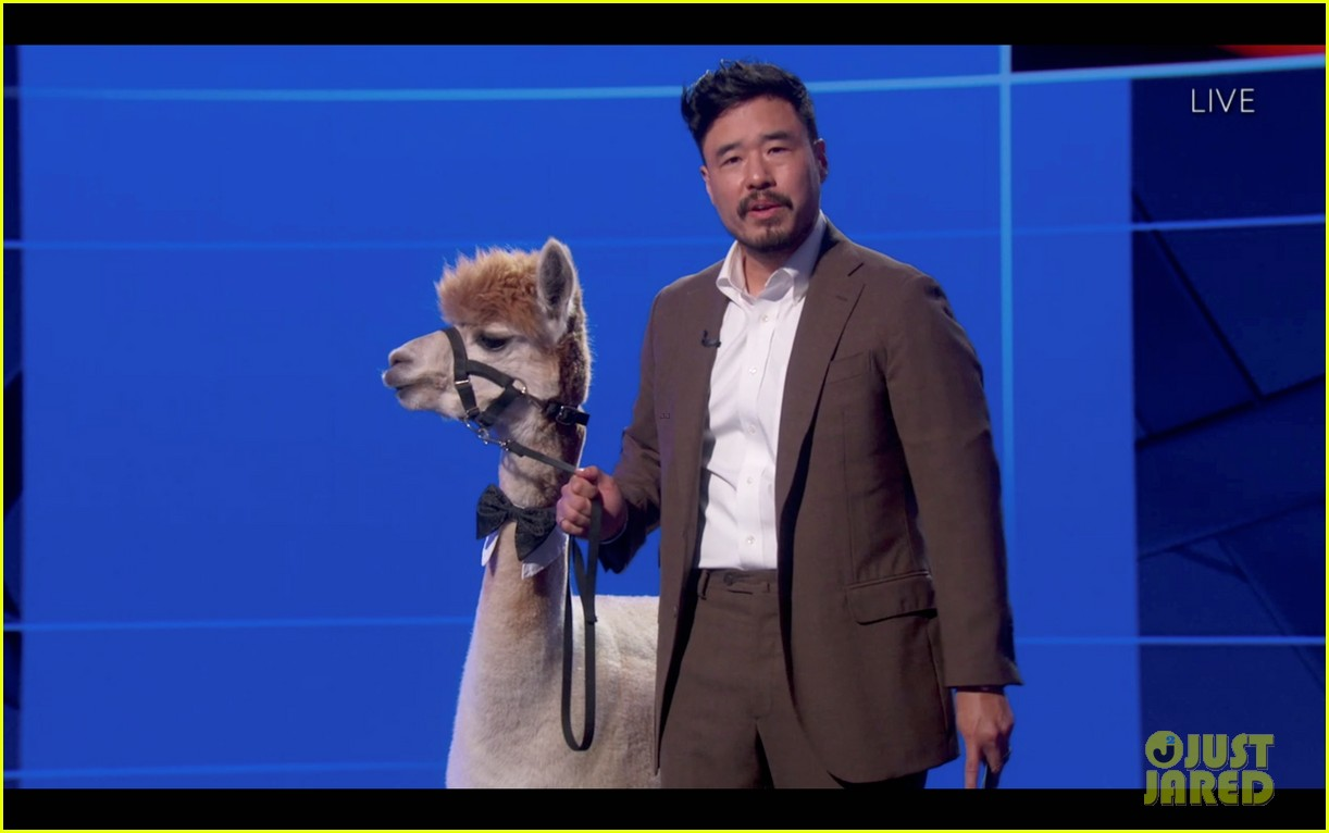 randall park attends emmys 2020 with alpaca 024485661