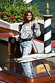 taylor hill matches mask to dress venice film festival 09