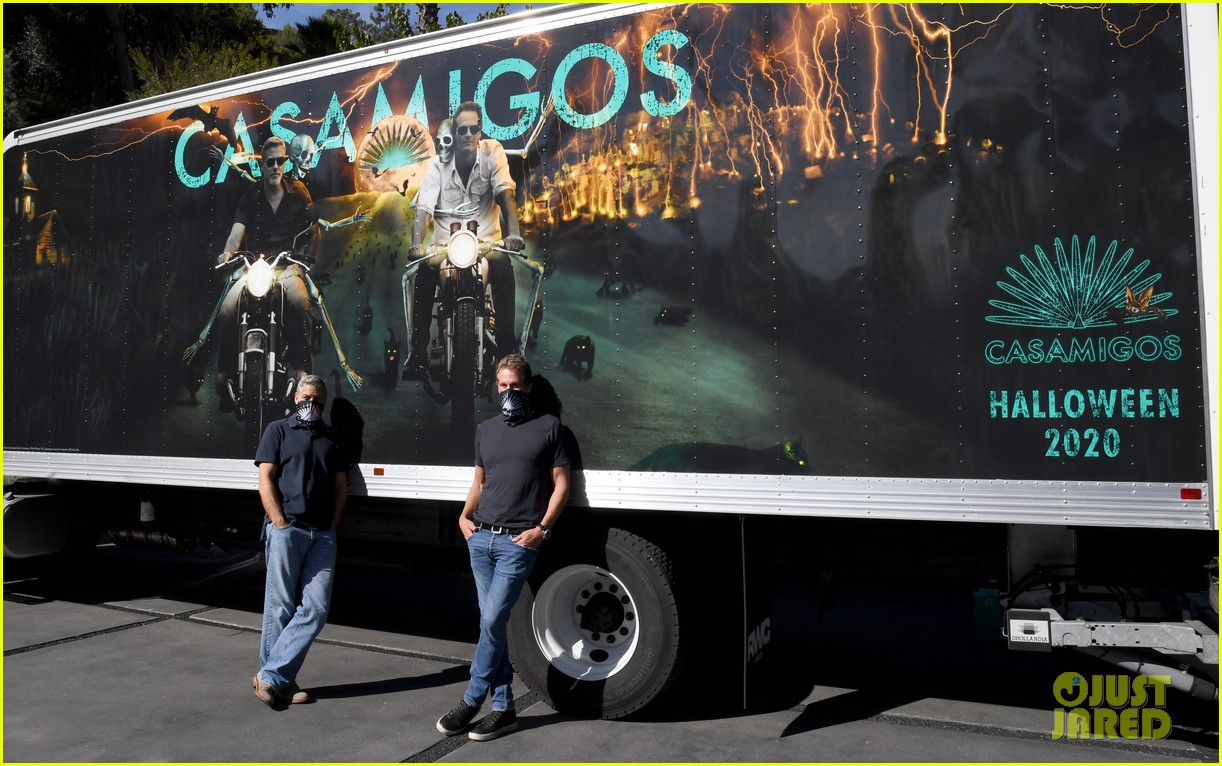 george clooney rande gerber casamigos halloween truck 014496674