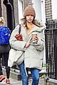 emilia clarke bundles up during a chilly fall day 19