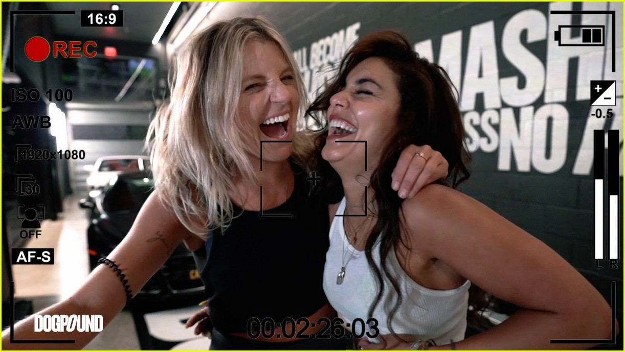 vanessa hudgens gg magree take fans into the dogpound 234493720