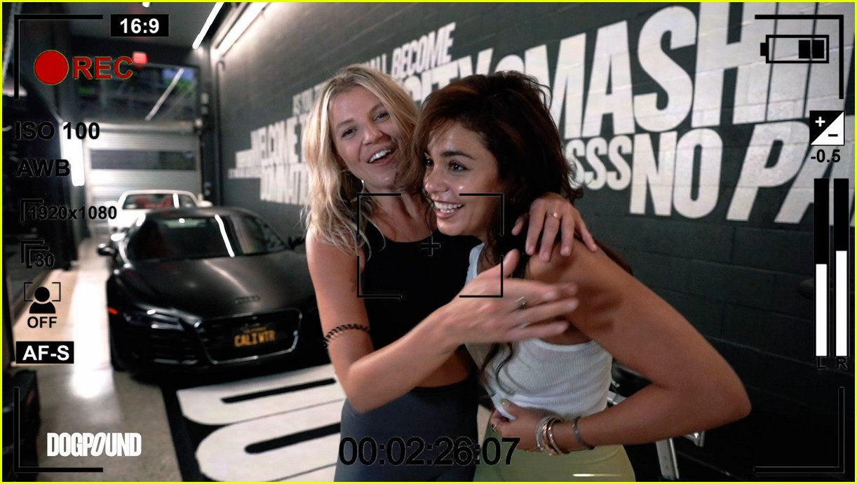 vanessa hudgens gg magree take fans into the dogpound 244493721
