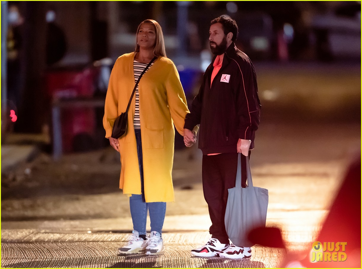 queen latifah adam sandler hold hands new netflix movie 054493757