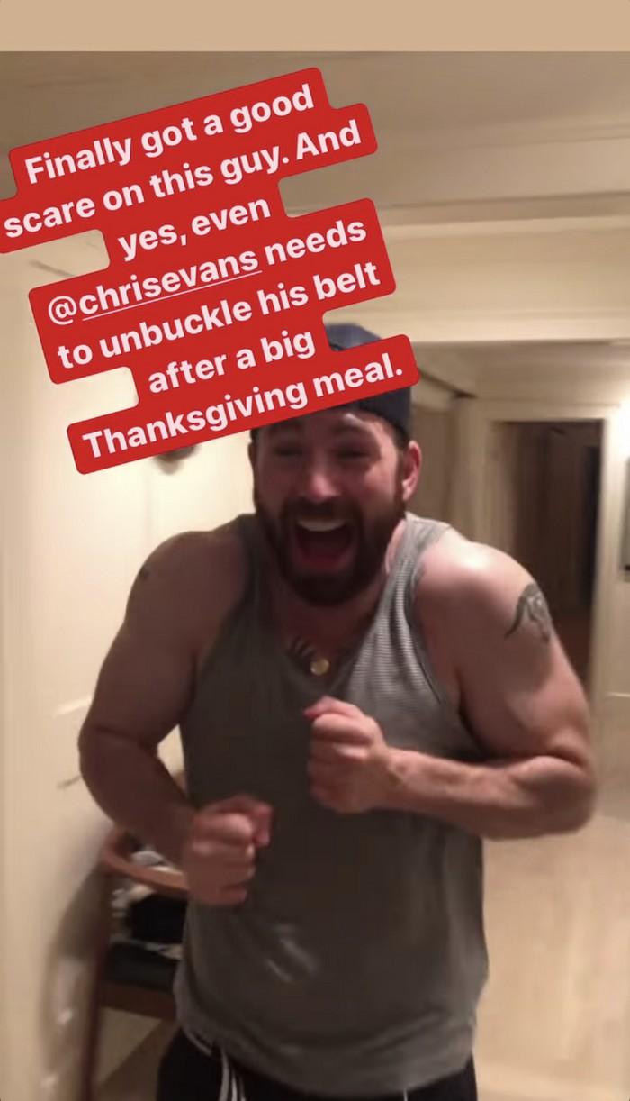 scott evans scares brother chris thanksgiving 054504237