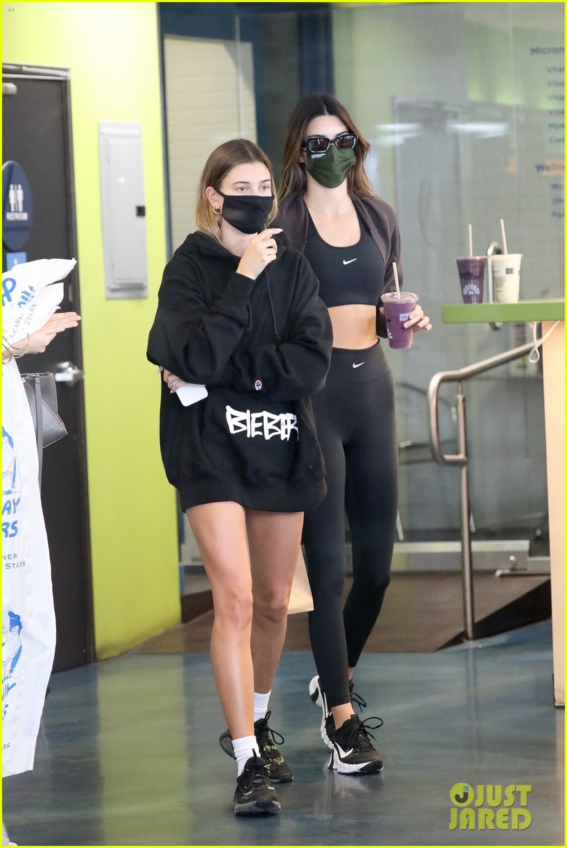 kendall jenner hailey bieber juice run after workout 014498630