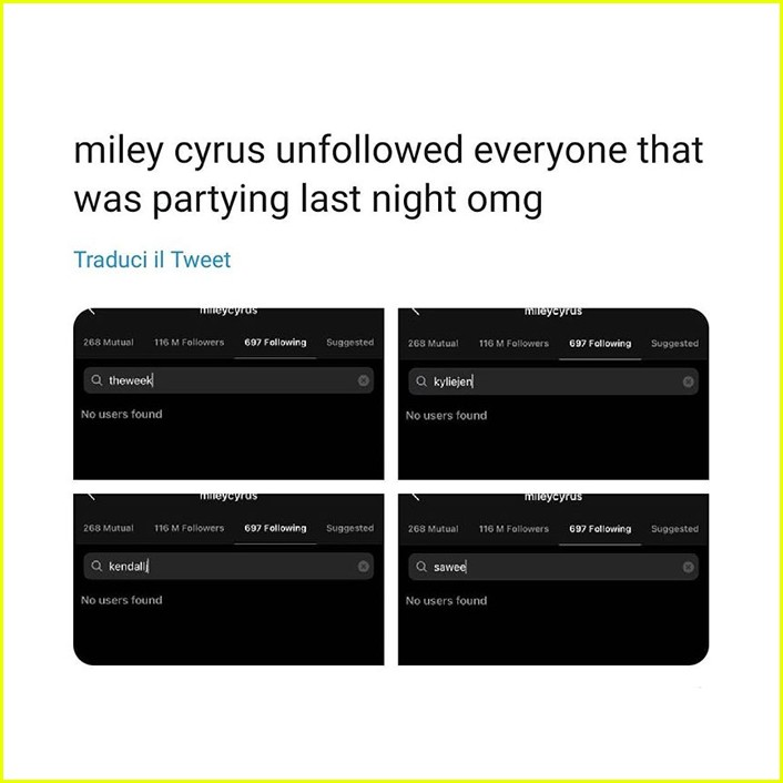 miley cyrus responds to unfollow reports 014497432