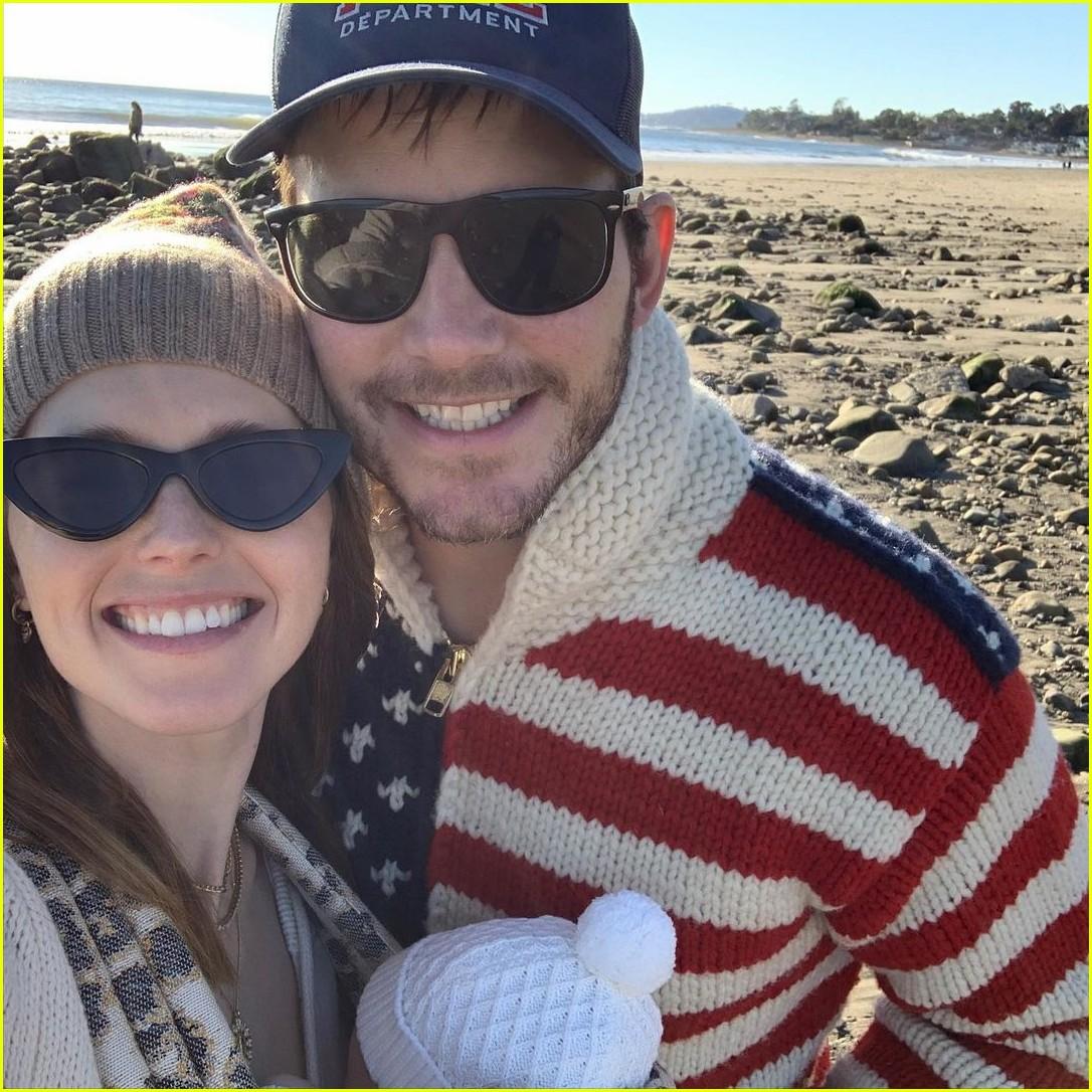 chris pratt katherine baby beach instagram4512880