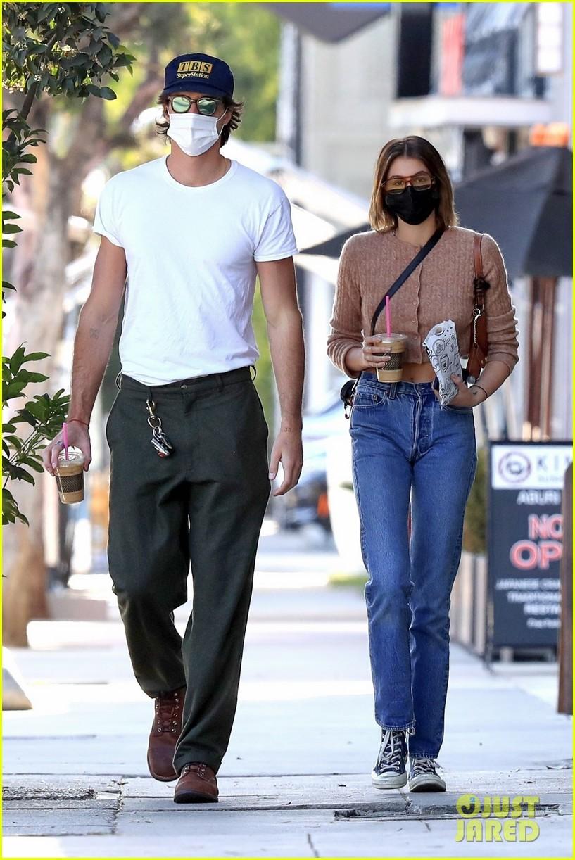 Euphoria's Jacob Elordi Grabs Coffee with Girlfriend Kaia