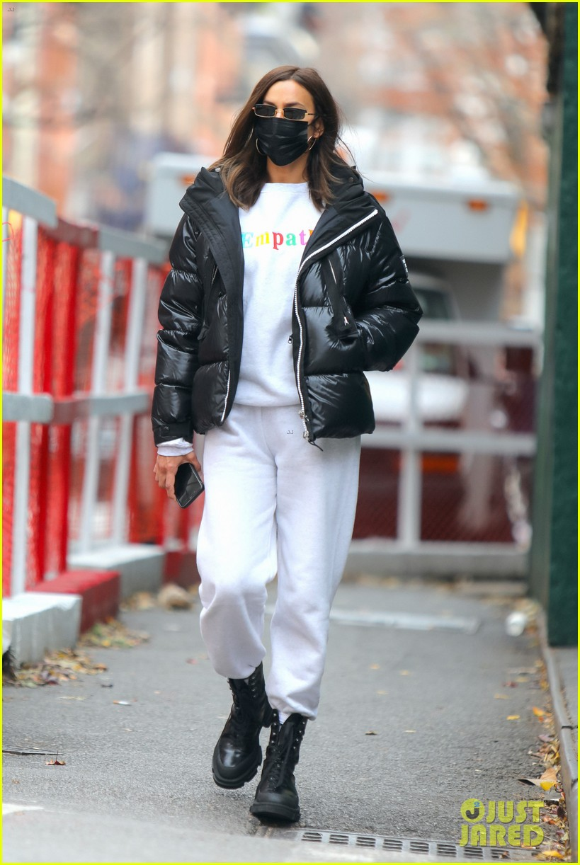 irina shayk rocks empathy sweatsuit coffee run 054505844