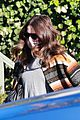 mandy moore covers up baby bump for appointment 06
