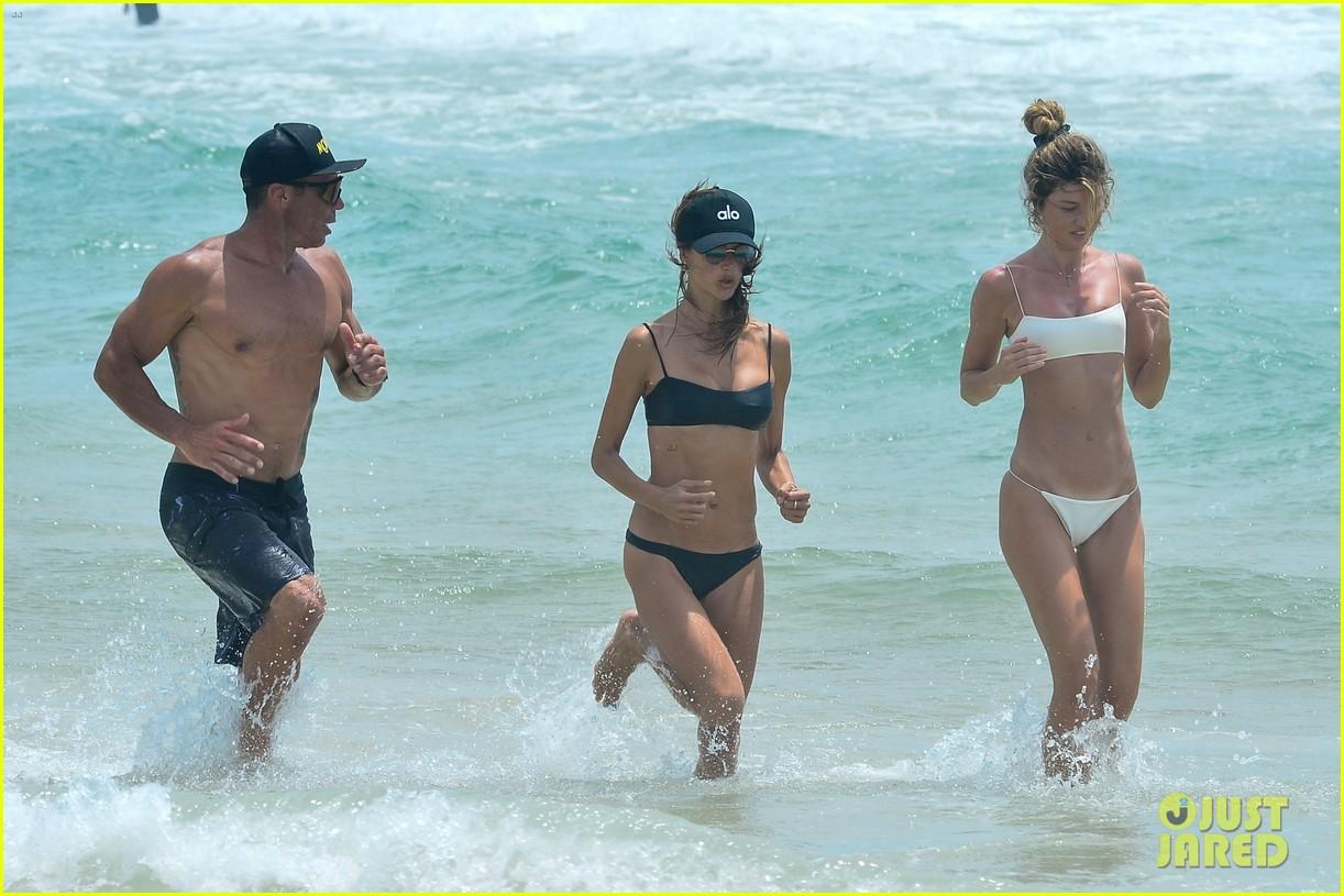 alessandara ambrosio enjoys workout on beach brazil 094516758