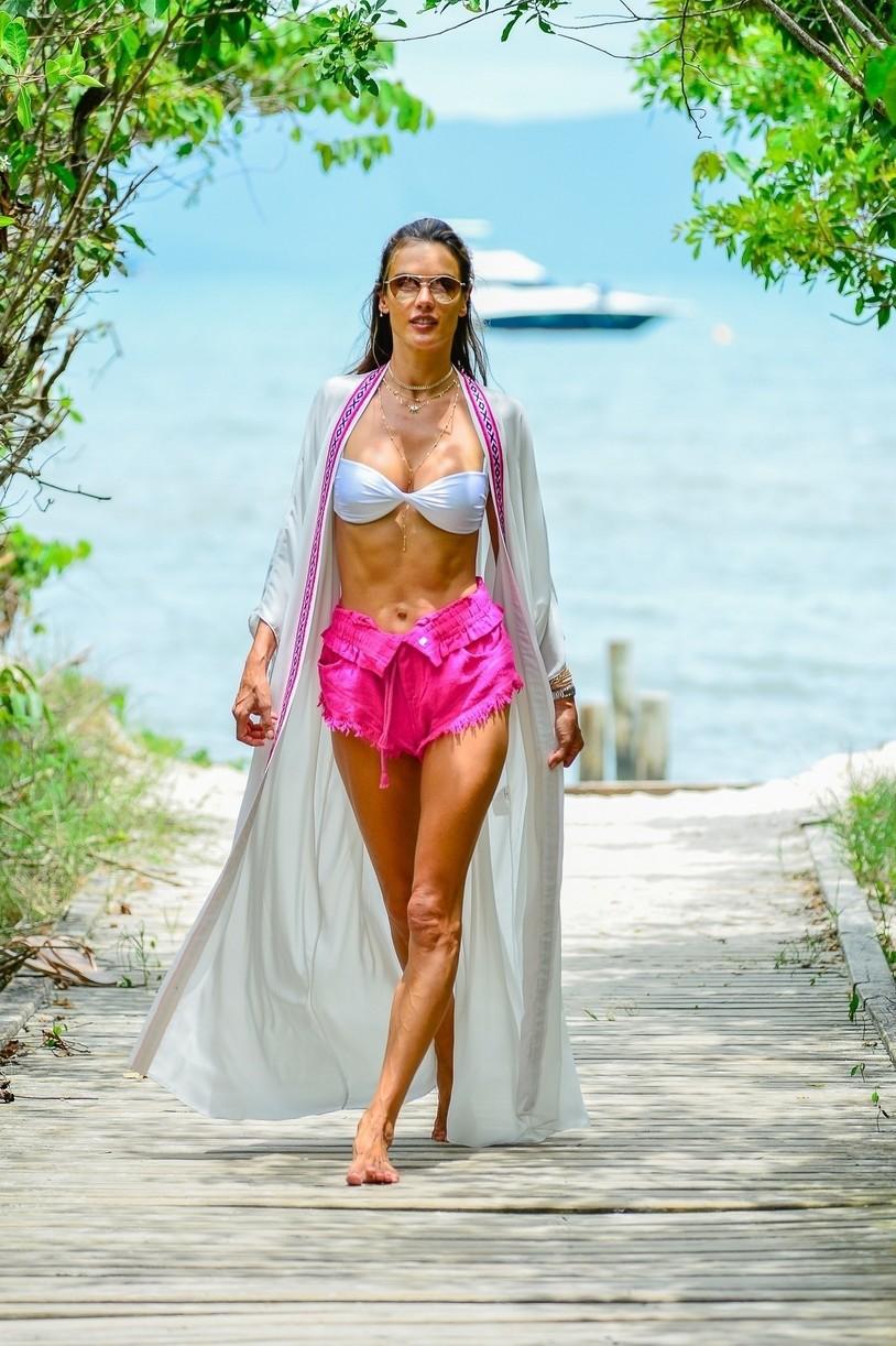 alessandra ambrosio bikini display during bikini shoot fla 054515220