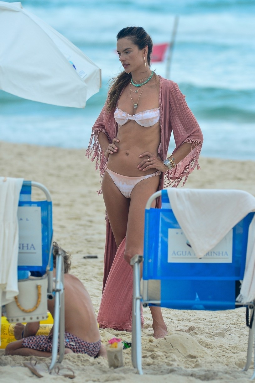 alessandra ambrosio bikini display during bikini shoot fla 074515222