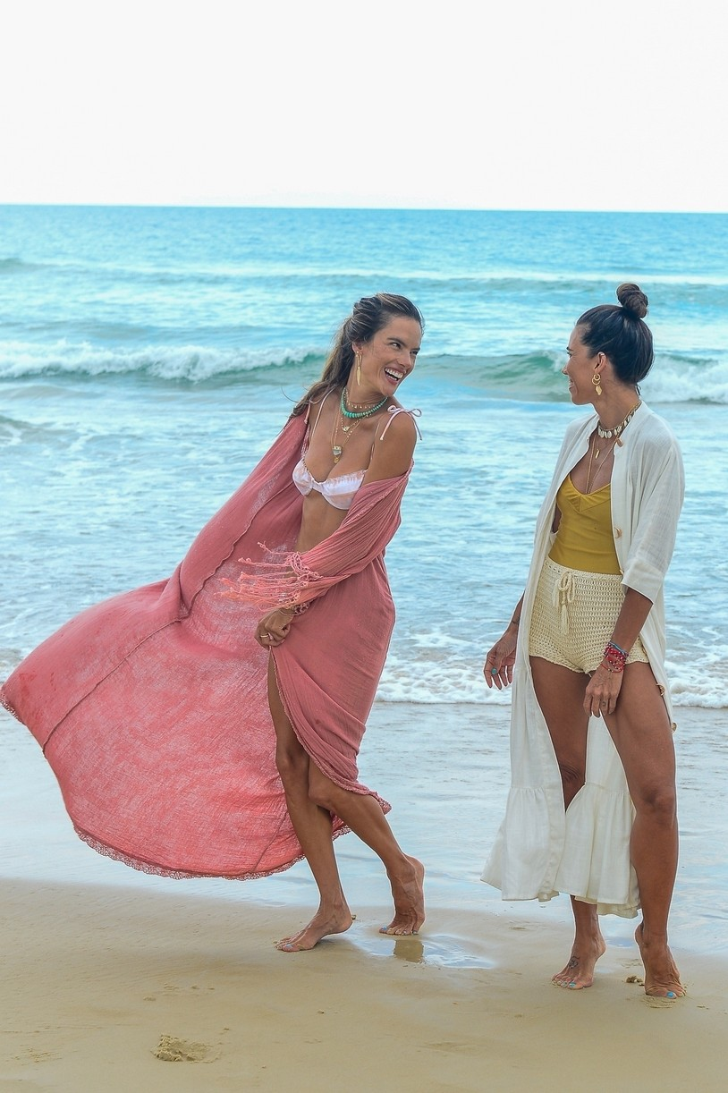 alessandra ambrosio bikini display during bikini shoot fla 114515226