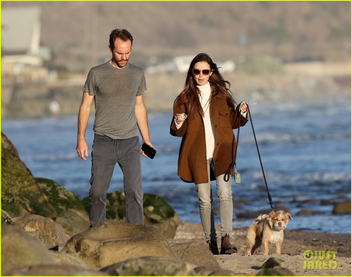 lily collins charlie mcdowell beach walk 074516077