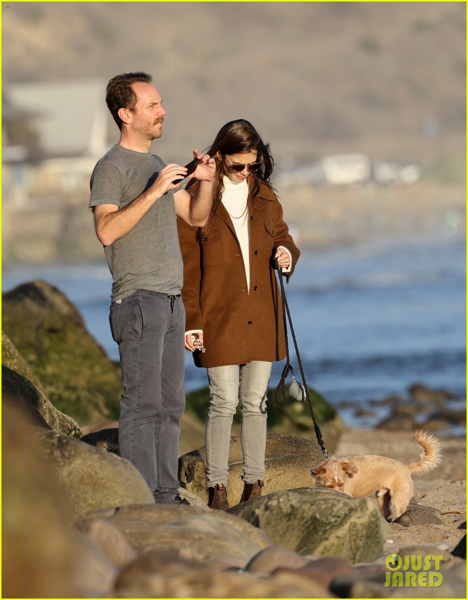 lily collins charlie mcdowell beach walk 174516087