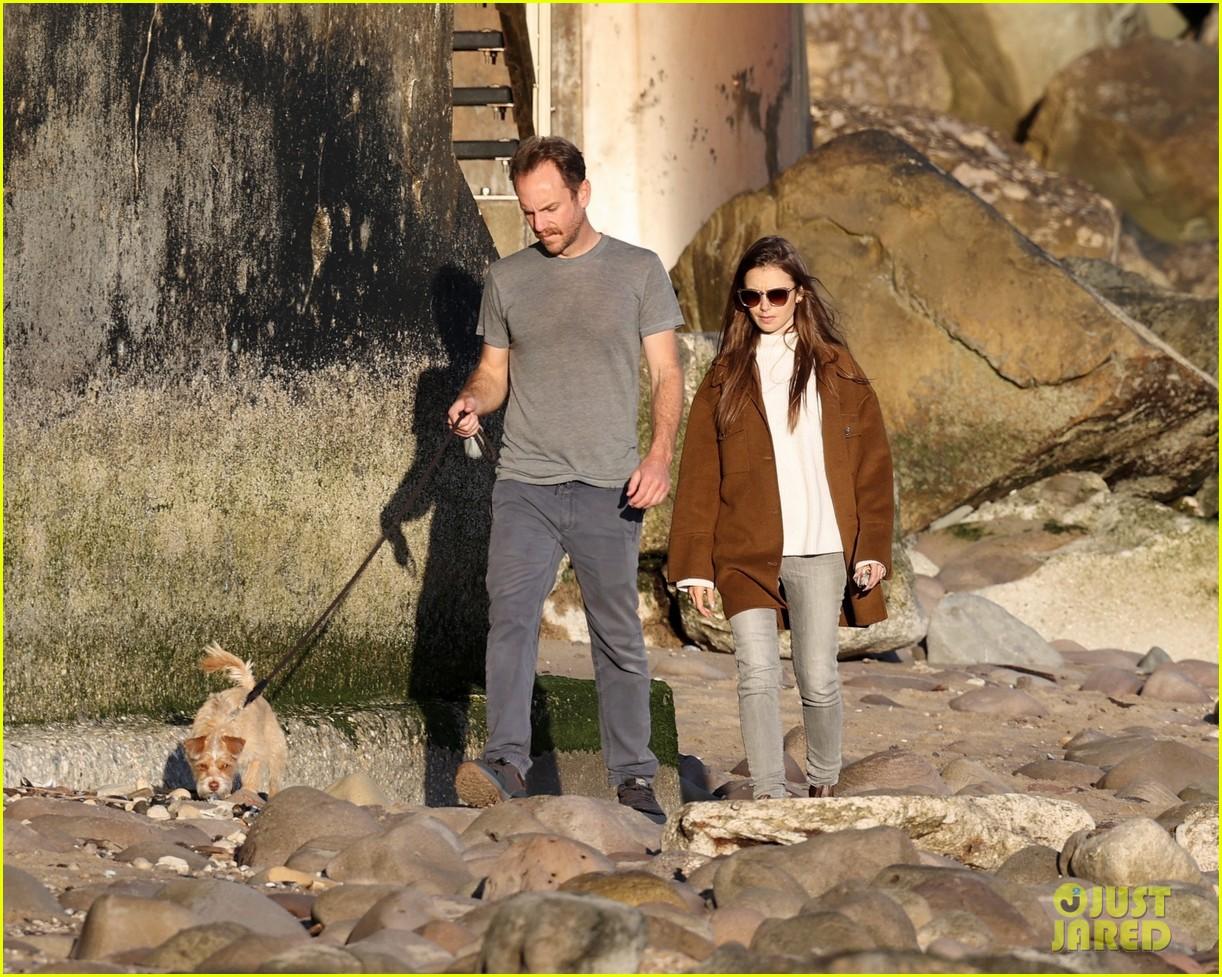 lily collins charlie mcdowell beach walk 204516090