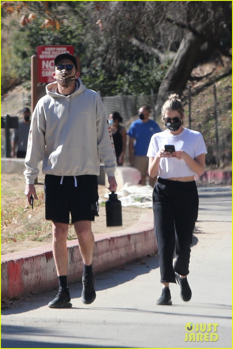 ashley benson g eazy mask up for afternoon hike 014516805