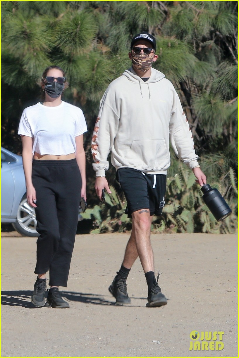 ashley benson g eazy mask up for afternoon hike 054516809