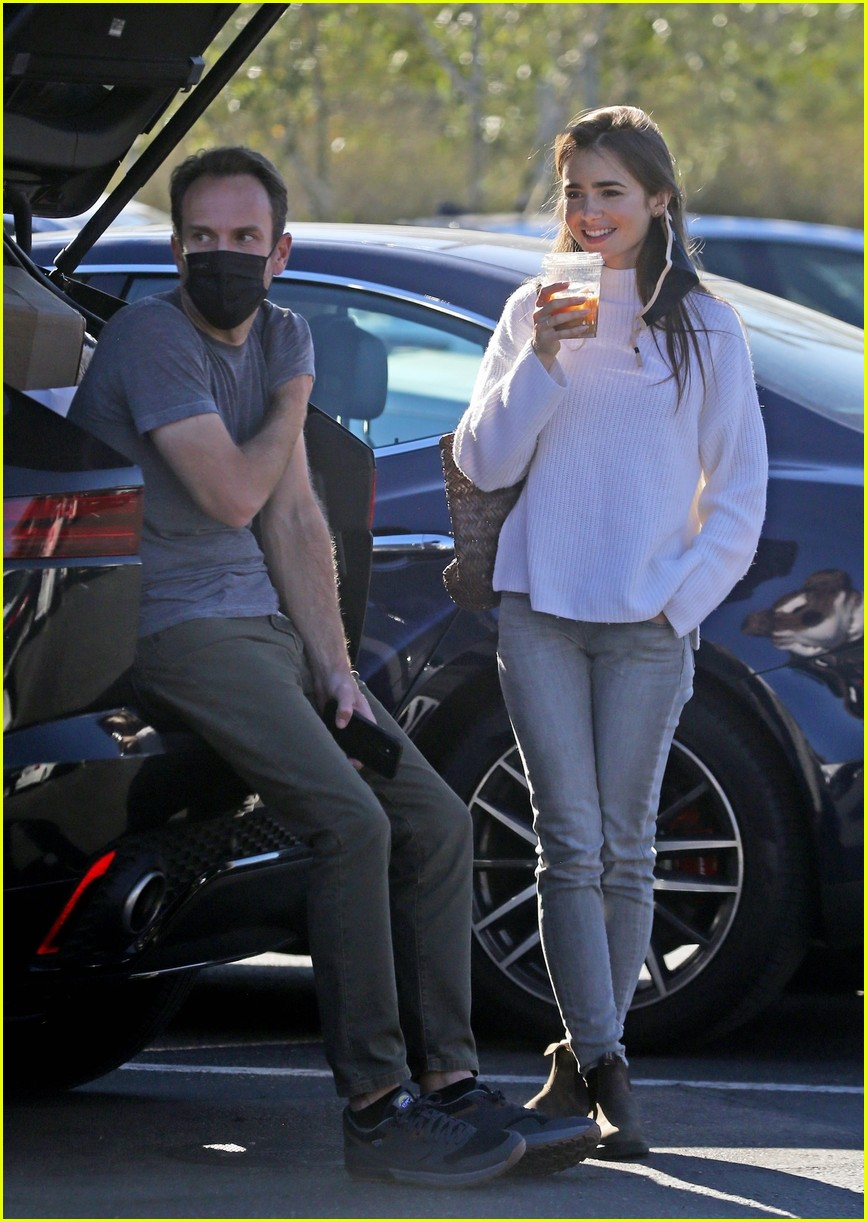 lilly collins recycling 164516554
