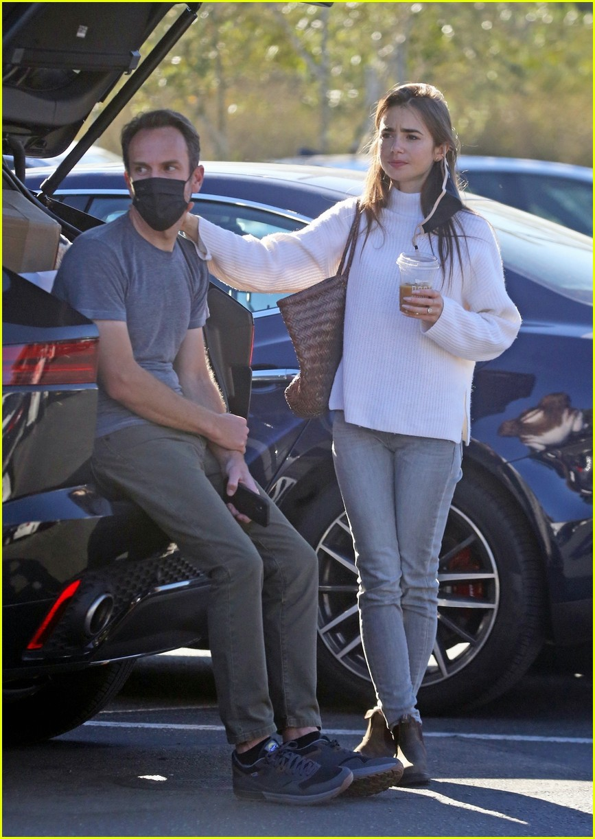 lilly collins recycling 184516556