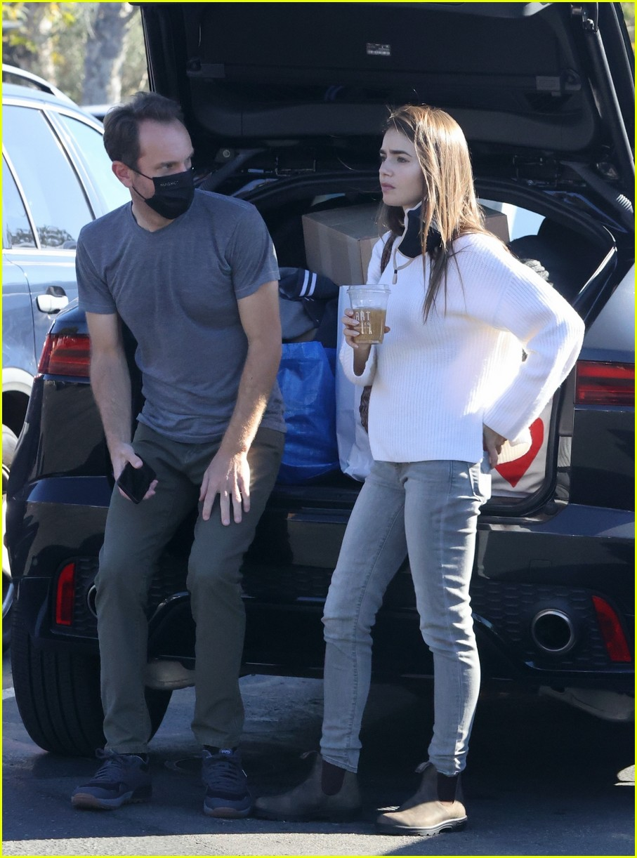 lilly collins recycling 244516562