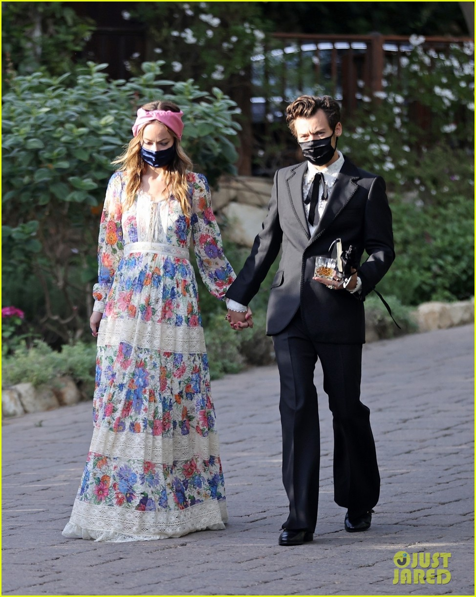 harry styles olivia wilde hold hands managers wedding 014514742