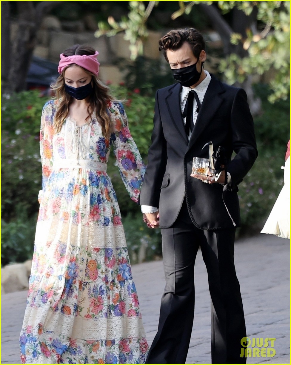 harry styles olivia wilde hold hands managers wedding 024514743