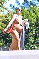pregnant hilary duff bump hugging dress out in la 01