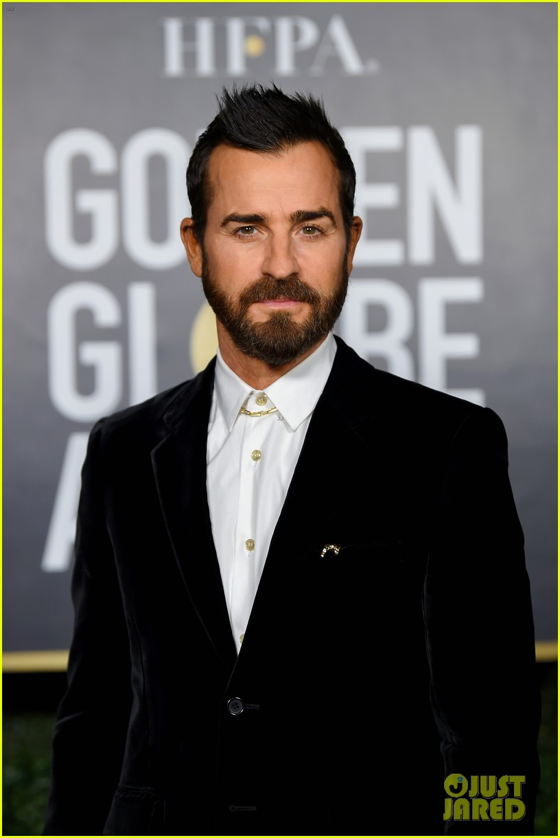 justin theroux wears a fohawk at the golden globes 2021 014528632