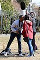 michael b jordan chante adams kiss on jordan set 05