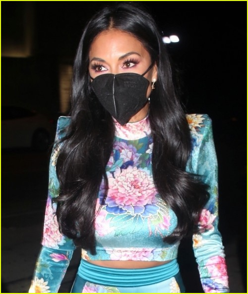 nicole scherzinger colorful outfit for dinner 024530034