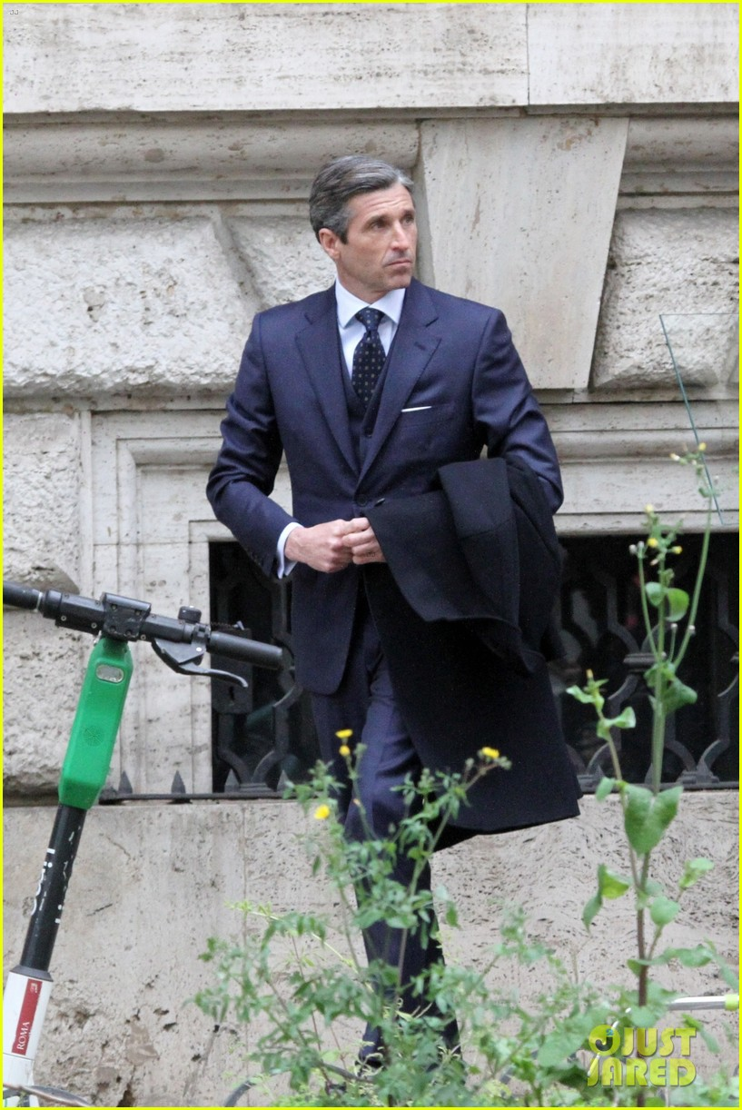 patrick dempsey suits up filming devils season two 034539615